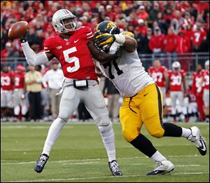 Ohio State's Braxton Miller has passed for 1,860 yards and run for 1,033 this season despite missing three games with a knee injury.