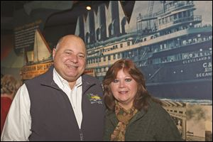 Author Bob Adamov and his wife Cathy, of Wooster, attended the H2Oh! Making Waves fundraiser for the Great Lakes Museum near downtown Toledo.