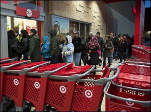 Shoppers enter a Target store in Dartmouth, Nova Scotia, on Black Friday.
