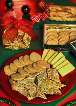 Home-made crackers and cheese straws can be perfect for holiday munching or gift giving.