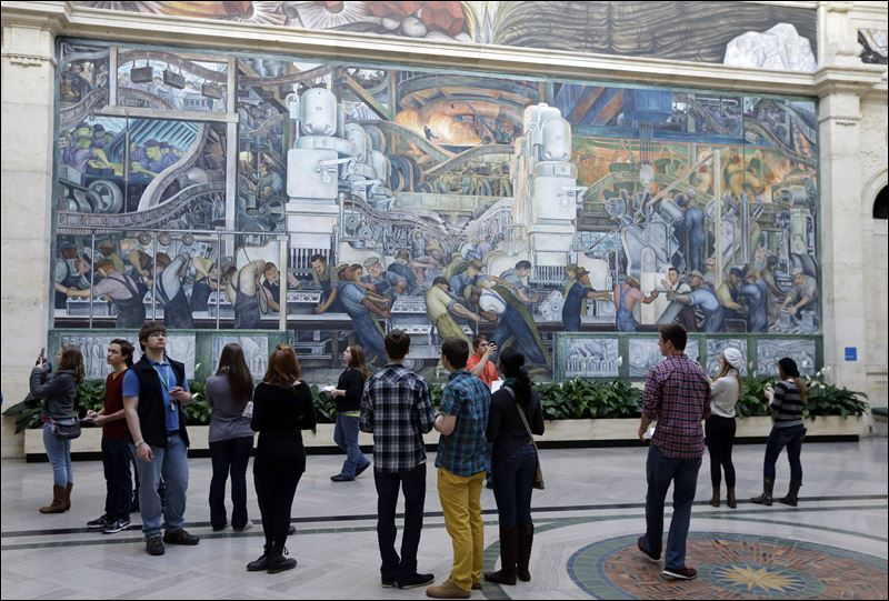 Detroit owned bruegel painting valued up to 200m van for Detroit industry mural