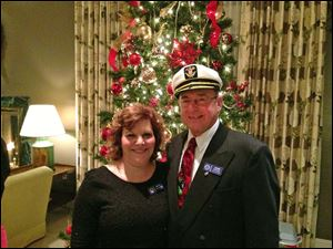 Lady Ruth Glanzman and John Kurfess, IYFR Commodore.