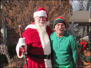 Frank Aloorn as Santa and Randy Rood as his elf.