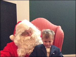 James Shaw with Santa.