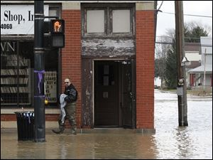 Flooding on N. Main St. in Findlay.