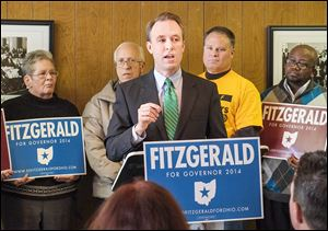 Cuyahoga County Executive Ed FitzGerald, the likely Democratic gubernatorial candidate, says Governor Kasich's income tax cuts have benefited the wealthy at the expense of the middle class.