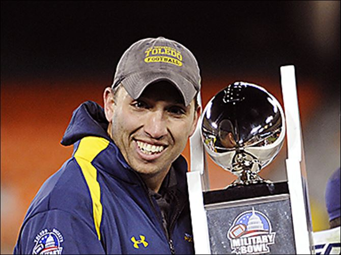 29s1campbell As interim coach, Matt Campbell led UT to a win in the 2011 Military Bowl. He received $50,000 in bonuses.