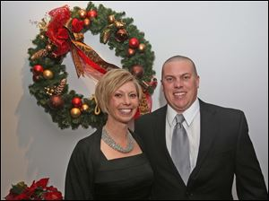 Kate and Ed Matz, of Genoa, attended the Winter Ball at Belmont Country Club in Perrysburg.