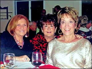 Marilyn Bender, center is Doris Berta, and on the right is Alicia Lipinski.