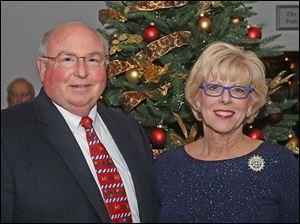 Tom and Marlene Uhler, of Rossford, attended the Winter Ball at Belmont Country Club in Perrysburg.