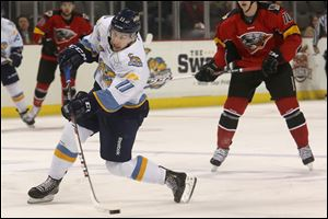 Scott Arnold was the Walleye's fourth leading scorer with 12 points. Arnold, 24, scored seven goals and had five assists in 25 games with Toledo in his second pro season.