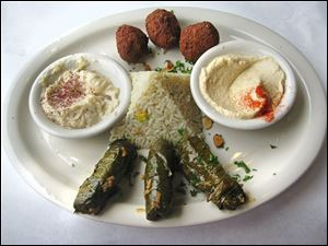 The Bloudanian entree at Bloudan Mediterranean Restaurant in Sylvania Township.