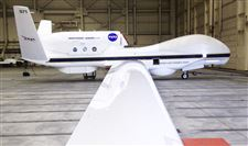 A-NASA-Global-Hawk-drone-sits-in-a-hanga