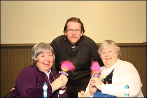 The Village Players' production of 'Queen of Bingo' stars, from left,  Pam Kelso as Sis, Eric Simpson as Father Mac, and Nancy Janney as Babe.