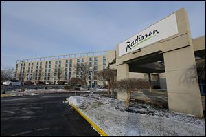 The new Radisson sign has gone up at what was formerly the Hotel at UTMC, on the campus of the former Medical College of Ohio.
