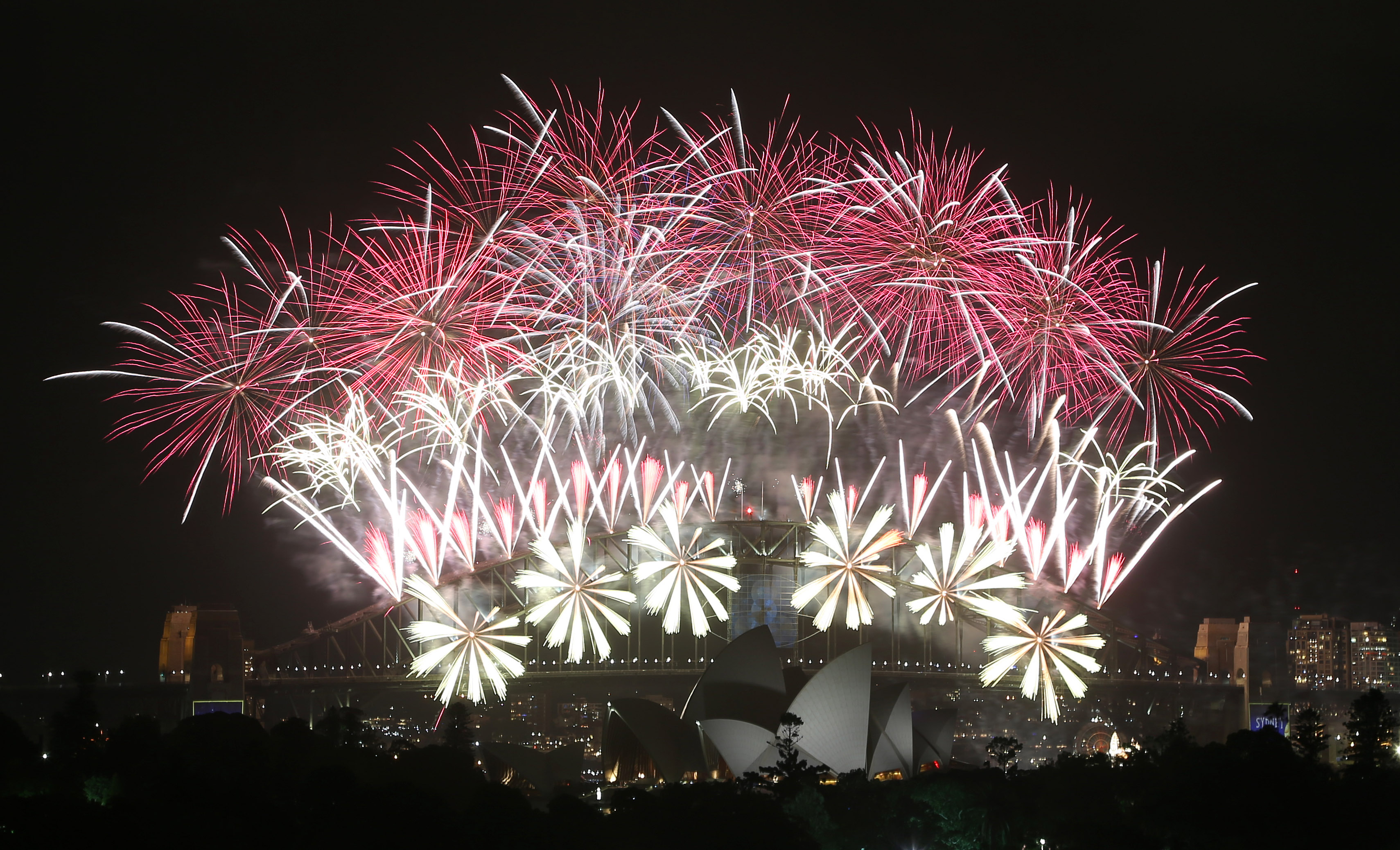 Revelers Start Ringing In 2014 With Fireworks