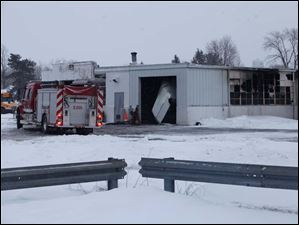 A fire broke out maintenance garage for Pike-Delta-York School District Thursday in Delta.
