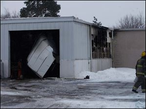 A fire broke out maintenance garage for Pike-Delta-York School District Thursday.