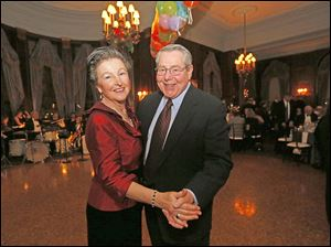 Arlene and Bob Boyles enjoy the party during the Toledo Club New Year's Eve Gala.