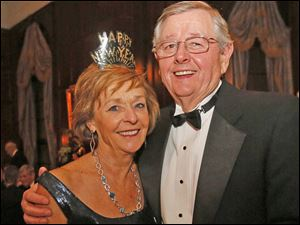 Arlene and Mike Whelan enjoy the party during the Toledo Club New Year's Eve Gala.