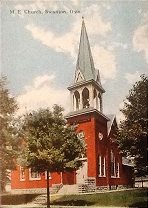 An 1892 rendering of Trinity United Methodist Church in Swanton.