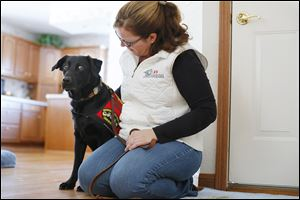 Tracy Spader of Lambertville adopted Jig, a Labrador retriever who was an explosives detection dog with the Marines. Jig served in Afghanistan from 2008 to 2011 until he was diagnosed with oral melanoma. He is now in remission.