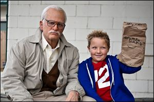 Johnny Knoxville as Irving Zisman and Jackson Nicoll as Billy in 'Jackass Presents: Bad Grandpa.'