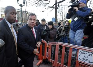 New Jersey Gov. Chris Christie  arrives at Fort Lee, N.J., City Hall last week  to apologize in person to Mayor Mark Sokolich for the traffic jam scandal.