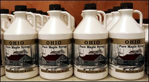 About 100,000 gallons of maple syrup are produced each year by Ohio's 900 producers.