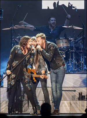 Although known for its power ballads, Lady Antebellum's Toledo set list showcased several up-tempo songs.