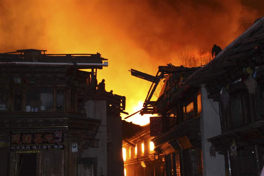 China-Ancient-Town-Fire