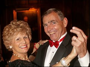 Deby and Philip Buerk attended the Cotillion Club Dinner Dance at the Toledo Club.