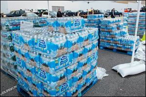 The GeStamp Stamping Plant-South Charleston (W.Va.) is one of several distribution locations open Sunday morning so local residents can pick up bottled water and fill containers after a chemical spill Thursday in the Elk River that has contaminated the public water supply in nine counties.