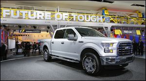 The 2015 Ford F-150 at the North American International Auto Show in Detroit on Monday.