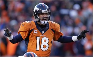TV viewers Sunday couldn't help but notice how often, and loudly, Manning used the code word