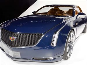 A front view of the Cadillac Elmiraj concept at the North American International Auto Show.