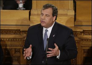 New Jersey Gov. Chris Christie delivers his State Of The State address at the Statehouse, Tuesday, Jan. 14, 2014, in Trenton, N.J.