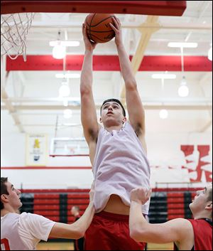 Noah Castle, a 6-foot-5 junior, scores 16 points and grabs 8.9 rebounds per game for Wauseon.