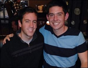 Brian Panetta, a music teacher at St. Mary Central Catholic High School in Sandusky, and his fiance, Nathan David.