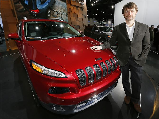 15n4manley Jeep Chief Executive Officer Mike Manley says the Toledo-built Cherokee is being shipped to China, and will soon be sent to European showrooms as part of a sales push. The vehicle went on sale in October.