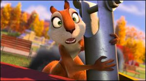 "This image released by Open Road Films shows Andie, voiced by Katherine Heigl, in a scene from ""The Nut Job."""