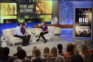 Drs. Brian and Cynthia Hoeflinger appear on Katie Couric's television program to talk about the death of their son, Brian.