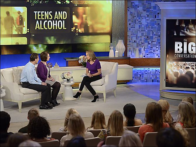 n6katie-4 Drs. Brian and Cynthia Hoeflinger appear on Katie Couric's television program to talk about the death of their son, Brian.