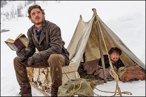 Richard Madden as Bill Haskell, left, and Augustus Prew as Byron Epstein in Discovery Channel's first scripted miniseries 'Klondike.'