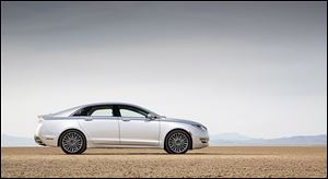 The 2013 Lincoln MKZ hybrid. Its MKZ sedan made up 40 percent of its sales last year, and Lincoln pins its hopes on the MKC.