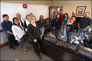 The employees of marketing research firm MRops say they keep the office casual and enjoyable. The Perrysburg office employs about 40 workers and operates with a work hard and play hard approach.