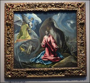 Domenikos Theotokopoulos, called El Greco (Spanish, born on Crete, 1541-1614), The Agony in the Garden. Oil on canvas, ca. 1590-1595.