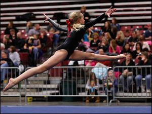 Toledo Turner  Kylie Morgan performs in the floor exercise.