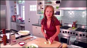 Cooking expert Giada De Laurentiis on the set of her show '€˜Everyday Italian,' which runs on the Food Network.