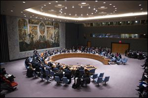 The United Nations Security Council meets at U.N. headquarters, today.
